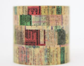 Washi tape vintage tickets