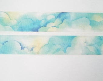 Design Washi tape clouds Sun sky painting