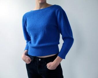 Cobalt blue soft wool sweater