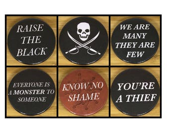 Black Sails Inspired pirate badge set (38mm)