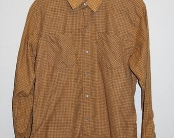 SALE 25% OFF Vintage Yellow Flannel Shirt