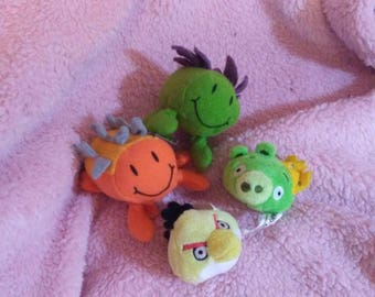 Tiny Plushies for Little Boys - Cute Little Stuffed Animals - Kawaii Toys - Small Toys - Lot of 4