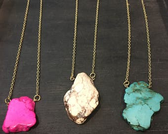 Howlite Stone Necklace
