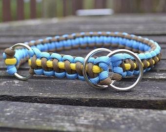 O ring martingale paracord dog collar