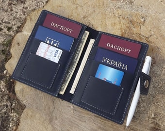 Leather family passport holder\ Leather Family Passport Cover\ Holds 4, 6, 8, 10 Passports\ family passport holder\ leather travel wallet