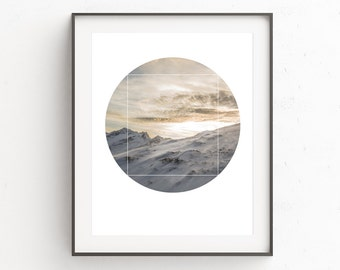 Mountain Wall Print, Minimalist Modern Prints, Nature Photography Wall Print, Wall Decor, Photography Wall Prints, White Print Art, Snow