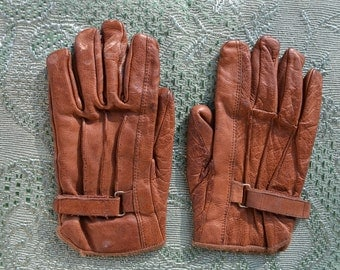 Chic Vintage Thick Leather Women's Gloves, French, Vintage, Leather, Woman, Handbag, Ladies Gloves, Winter Gloves