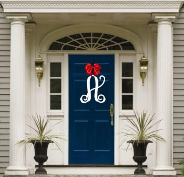 front door monogramWeatherproof Vine Monogram House Sign Monogrammed Wreath
