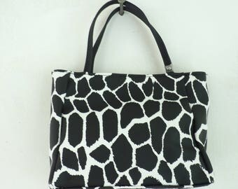 Giraffe Print Purse Black & White Handbag, Giraffe Handbag, Animal Purse, Animal Print, Giraffe Print, Summer Purse, Giraffes