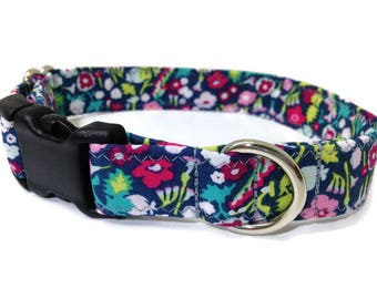 Grey and Pink  floral small dog collar,  Vera inspired Dog collar, flower dog collar, stylish dog collar, Girl dog colla, pink dog collar