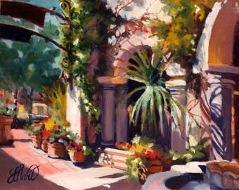 Sunlit Building, Favorite Place, Summer Painting