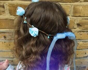 Baby girl blu headband, beautiful headband
