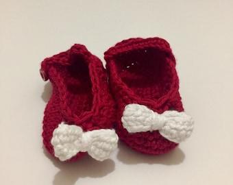 Crochet Baby Booties (Newborn to 12months)