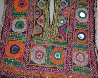 Vintage Small Banjara Neck Yoke Embroidery Applique Patch Sewing craft12