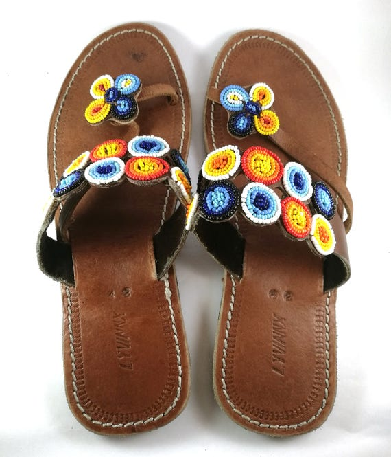 355bb510eefff African Handmade Leather Maasai Sandals Made In Kenya