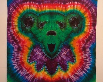 Tie Dye Dancing Bear Tapestry 6x6'
