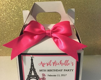 Eiffel Tower favor boxes set of 10