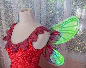 Iridescent Rainbow Fairy Wings - Cicada Style with U back - Any colour film