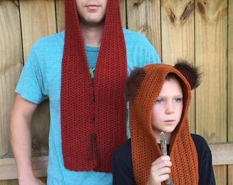 Ewok Inspired Hood, Wook, Star Wars Costume, Halloween Costume, Cosplay, Comic Con