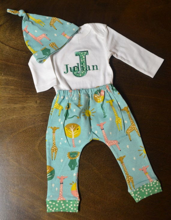 Baby Boy Gift Clothes : Personalized baby boy outfit clothes by