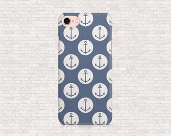 Blue nautical iphone case - anchor iphone case - iPhone 7, iPhone 7+, iPhone 6+, iPhone 6s, iPhone 6, iPhone 6plus, iPhone SE, iPhone 5 case