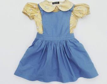 Kids clothes, pinafore, jumper dress, first birthday, girls pinafore, girls dress, baby clothes, baby dress, autumn dress, first birthday