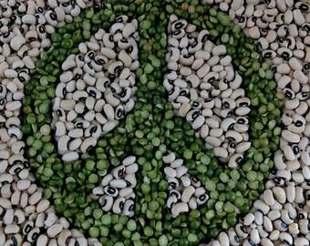 Food, Peas Symbol, Green, Tan (FP17023A)