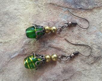 Small drop earrings beaded handmade light earrings light jewellery stylish fashion elegant fashion modern fashion small earrings simple drop