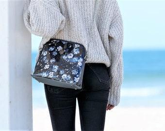 Crossbody bag, vegan bag, keep changing crossbodybag, black floral print, best selling items, bags for women, sholder bag, sholder bag