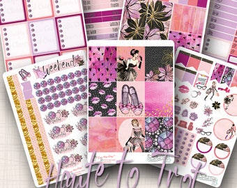 Weekly Sticker Kit | Haute to Trot | 212 Stickers Total | #SK11HAUTETOTROT
