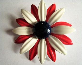 Large Metal Flower Pin