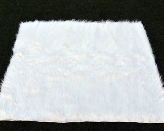 Ready to ship Pure white ultra soft faux fur mat for Teepee/ mat kids teepee
