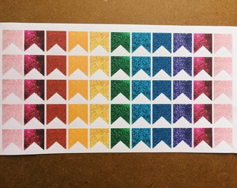 55 Rainbow Sparkle Page Flags