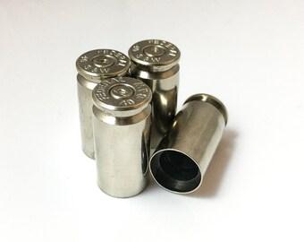 Bullet Valve Caps - Nickel Plated Brass Bullet Casing Tire Cap. 40 Cal Caps. Stocking Stuffer for Men
