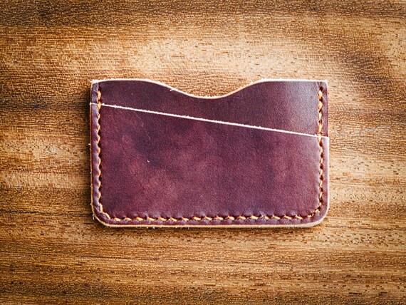 Porte carte minimaliste bois et cuir etui carte de visite - Porte carte de visite cuir ...