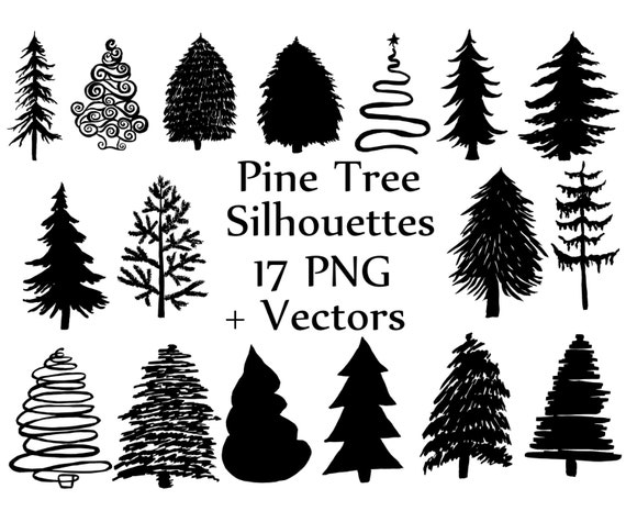 Christmas Tree Silhouette Clipart: PINE TREES