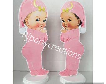 Pajama Baby Girl Centerpiece