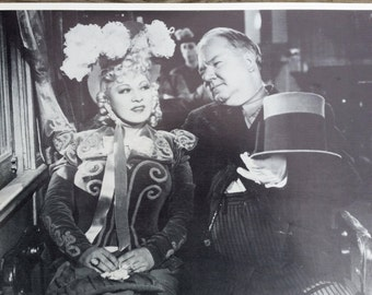 Mae West And WC Fields  Vintage Poster