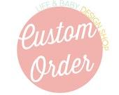 Custom Order for Erin C