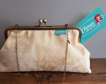 Vintage Embossed Chain Clutch Bag