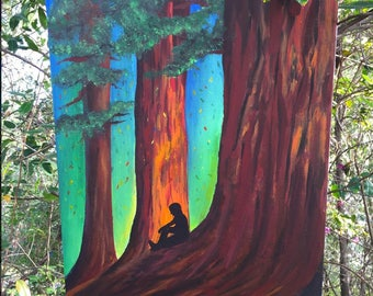 California Redwoods Painting: Redwood Canvas