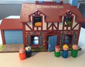 Vintage Fisher Price Tudor Complete House Playset #952