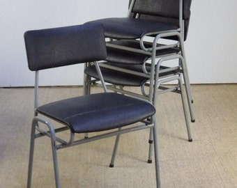 Vintage Stacking Industrial Remploy School Cafe Bar Chairs incVAT 30 AVAILABLE