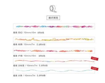 Washi paper masking tape [KAZE] Magic Line / Yarn Decoration