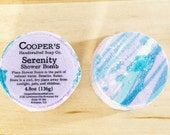 Serenity - Chamomile Lavender Scented Shower Bomb - Shower Steamer - Christmas Gifts + Stocking Stuffers -  Cooper's Handcrafted Soap Co.
