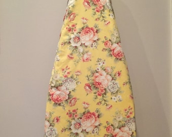 Ironing Board Cover/Yellow Ironing Board Cover/Roses Ironing Board Cover/Hideaway Ironing Board Cover/Floral Ironing Board Cover