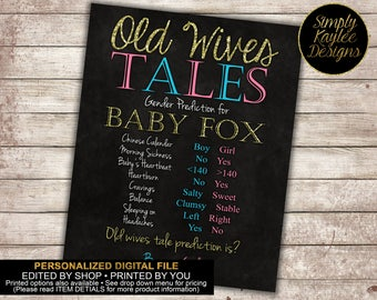 Old Wives Tales Chalkboard Sign