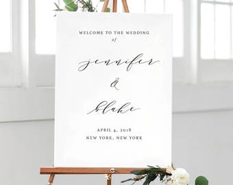 Calligraphy Welcome Sign, Custom Welcome Sign, Custom Wedding Poster, Custom Welcome Poster, Custom Wedding Sign, Wedding Welcome, Large, 05