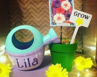 Kids Personalized Garden Grow Kit