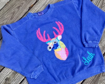 Comfort Colors Patchwork Buck Personalized Shirt